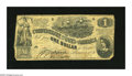 Confederate Notes:1862 Issues, T44 $1 1862. The left-hand edge is partially inside the frame lineon this well circulated $1. Good-Very Good....