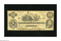 "Confederate Notes:1862 Issues, T46 $10 1862. An engraving error is found on this popular variety,with the ""s"" after ""Month"" missing. Fine...."