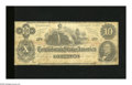 Confederate Notes:1862 Issues, T46 $10 1862. This uncancelled Cr.-343 note is complete with a well repaired edge tear and has a few small holes present. ...