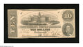 Confederate Notes:1862 Issues, T52 $10 1862. Scrutiny reveals minute handling and a few pinholes.About Uncirculated....