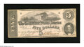 Confederate Notes:1862 Issues, T53 $5 1862. The grading pickets uncover just the slightest amountof handling on this $5. Choice About Uncirculated....