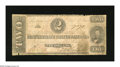 Confederate Notes:1862 Issues, T54 $2 1862. This is a well circulated Two with a few edge notches.Very Good....