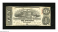 Confederate Notes:1863 Issues, T59 $10 1863. Even wear comprised of light folds and a couple ofapproximate quarter inch edge tears are traits of this 1st ...