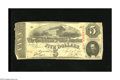 Confederate Notes:1863 Issues, T60 $5 1863. Some edge furling is noticed on this $5. Fine....