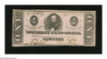 Confederate Notes:1863 Issues, T62 $1 1863. The bottom edge meanders inside the frame line on thisCrisp Uncirculated $1...