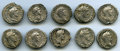 Ancients:Ancient Lots , Ancients: GROUP LOTS. Roman Imperial. Lot of ten (10) AntoninusPius (AD 138-161). AR denarii. Fine-VF.... (Total: 10 coins)