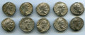 Ancients:Ancient Lots  , Ancients: GROUP LOTS. Roman Imperial. Lot of ten (10) SeptimiusSeverus (AD 193-211). AR denarii. About VF-About XF. ...(Total: 10 coins)