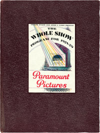 """Paramount Exhibitor Book (Paramount, 1928-1929). Hardcover Exhibitor Book (Multiple Pages, 9.5"""" X 12.5"""")"""