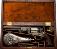 Historic Cased and Inscribed Colt Whitneyville-Hartford Transition Walker Dragoon Revolver, Presented to Colonel John Co...