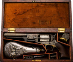 """Featured item image of Historic Cased and Inscribed Colt Whitneyville-Hartford Transition Walker Dragoon Revolver, Presented to Colonel John Coffee """"..."""