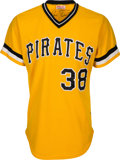 Baseball Collectibles:Uniforms, 1981 Luis Tiant Game Worn Pittsburgh Pirates Uniform. ...