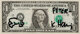 Keith Haring (1958-1990) One dollar, c. 1985 Ink on dollar bill 7 x 15-1/2 inches (17.8 x 39.4 cm) (sight) Signed an...