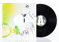 Paul Insect (b. 1971) DJ Shadow: Enuff + This Time, 2006 Hand sprayed in colors on record sleeve wit