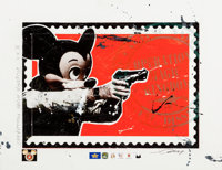 James Cauty (b. 1956) Operation Magic Kingdom XX3 Screenprint and collage with hand coloring on pape