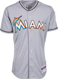 Baseball Collectibles:Uniforms, 2015 Ichiro Suzuki Game Worn Miami Marlins Jersey. ...