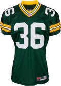 Football Collectibles:Uniforms, 1999 LeRoy Butler Game Worn & Signed Green Bay Packers Jersey - With Team Repair!...