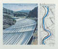 Fine Art - Work on Paper:Print, Christo (b. 1935). Over The River, Project for the ArkansasRiver and State of Colorado (two works), 1993. Offsetli... (Total: 2 Items)