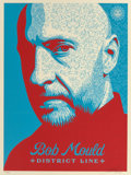 Fine Art - Work on Paper:Print, Shepard Fairey (b. 1970). Bob Mould, 2008. Screenprint incolors on paper. 24 x 18 inches (61.0 x 45.7 cm) (sheet). Ed. ...