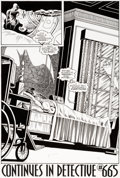 Original Comic Art:Splash Pages, Jim Aparo and Rick Burchett Batman #498 Splash Page 22Original Art (DC, 1993)....