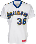 Baseball Collectibles:Uniforms, 1982 Gaylord Perry Game Worn Seattle Mariners Jersey, MEARS A10....