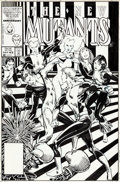 Original Comic Art:Covers, Barry Windsor-Smith New Mutants #43 Cover Original Art (Marvel, 1986)....