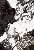 Original Comic Art:Covers, Mike Mignola B.P.R.D. Hell on Earth #1 - New World Cover Original Art (Dark Horse, 2011)....