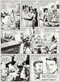 Original Comic Art:Panel Pages, George Appel Planet Comics #22 Story Page 8 Original Art(Fiction House, 1943)....