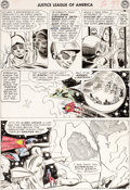 Original Comic Art:Panel Pages, Mike Sekowsky and Bernard Sachs Justice League of America#24 Story Page 23 Original Art (DC, 1966)....