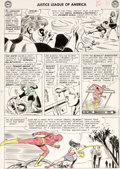 Original Comic Art:Panel Pages, Mike Sekowsky and Bernard Sachs Justice League of America#24 Story Page 8 Original Art (DC, 1963)....