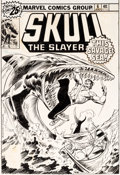 Original Comic Art:Covers, John Buscema and Mike Esposito Skull the Slayer #6 Cover Original Art (Marvel, 1976)....