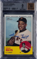 Baseball Cards:Singles (1960-1969), 2012 Topps Heritage Willie Mays Autograph #WM BGS Mint 9 - 10Autograph. ...
