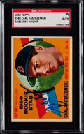 Autographs:Sports Cards, Signed 1960 Topps Carl Yastrzemski #148 SGC Authentic. ...