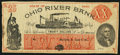 Obsoletes By State:Ohio, Marietta, OH- Ohio River Bank $20 Fantasy Note June 4, 1838. ...