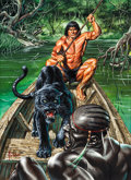 "Original Comic Art:Illustrations, Joe Jusko's Edgar Rice Burroughs Collection 1 Card #5 ""Sentinel"" Illustration Painting Original Art (FPG, 1994)...."