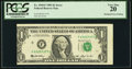Error Notes:Shifted Third Printing, Misaligned Face Printing. Fr. 1918-F $1 1993 Federal Reserve Note. PCGS Very Fine 20.. ...