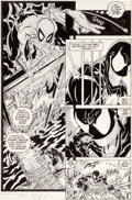 Original Comic Art:Panel Pages, Todd McFarlane Amazing Spider-Man #317 Story Page 19 Venom Original Art (Marvel, 1989)....