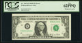 Error Notes:Shifted Third Printing, Misaligned Overprint Fr. 1907-K $1 1969D Federal Reserve Note. PCGS New 62PPQ.. ...