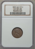 Lincoln Cents, 1922 1C No D, VF25 NGC. PCGS Population: (624/2686). CDN: $600 Whsle. Bid for problem-free NGC/PCGS VF25...