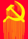 Fine Art - Work on Paper:Print, Zevs (b. 1977). Liquidated hammer and sickle, 2011.Screenprint in colors on paper. 27-1/4 x 19-1/4 inches (69.2 x 48.9...