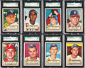 Baseball Cards:Lots, 1952 Topps Baseball SGC 88 NM/MT 8 Collection (14). ...