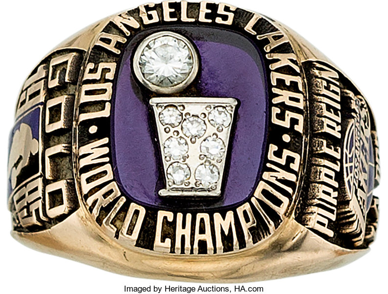 09e778dbe52 1984-85 Los Angeles Lakers World Champions Lady s Ring....