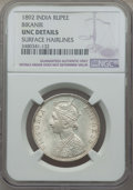 India:Princely States - Bikanir, India: Bikanir. Victoria Rupee 1892 UNC Details (Surface Hairlines)NGC,...