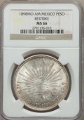 Mexico, Mexico: Republic Peso 1898 Mo-AM MS66 NGC,...