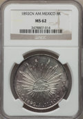 Mexico, Mexico: Republic 8 Reales 1892 Cn-AM MS62 NGC,...