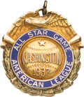 Baseball Collectibles:Others, 1937 All-Star Game American League Player Pendant....