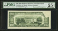 Error Notes:Obstruction Errors, Obstructed Printing. Fr. 2079-D $20 1993 Federal Reserve Note. PMGAbout Uncirculated 55 EPQ.. ...