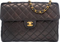 "Luxury Accessories:Bags, Chanel Black Quilted Lambskin Leather Jumbo Flap Bag. Condition:4. 12"" Width x 8"" Height x 3.5"" Depth. ..."