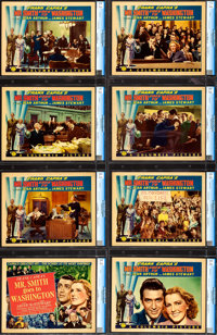 "Mr. Smith Goes to Washington (Columbia, 1939). CGC Graded Lobby Card Set of 8 (11"" X 14""). ... (Total: 8 Items..."