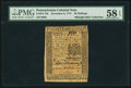 Colonial Notes:Pennsylvania, Pennsylvania December 8, 1775 30s PMG Choice About Unc 58 EPQ.. ...