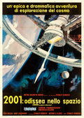 "Movie Posters:Science Fiction, 2001: A Space Odyssey (MGM, 1968). Cinerama Italian 4 - Fogli (55""X 77.25"") Robert McCall Artwork.. ..."